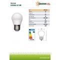 Енергоспестяваща LED лампа сфера 6W
